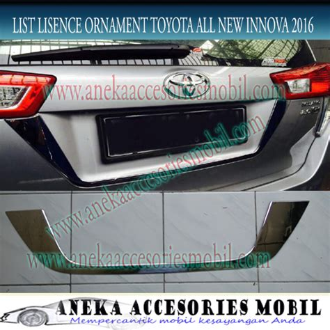 list lisence ornament toyota all new innova reborn 2016