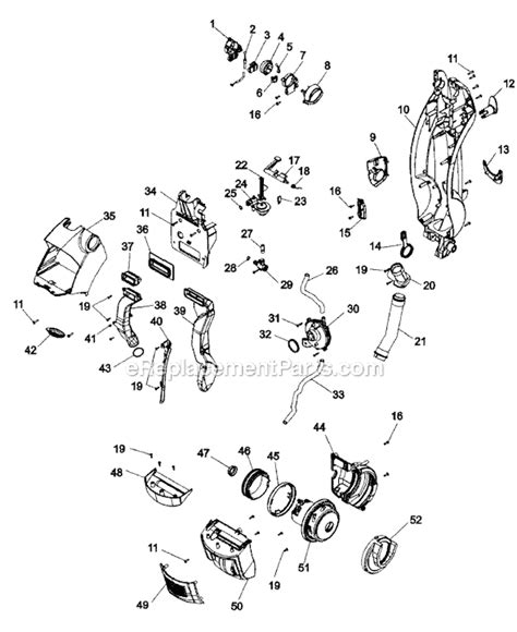 hoover floormate parts diagram hoover h3050 parts list and diagram ereplacementparts