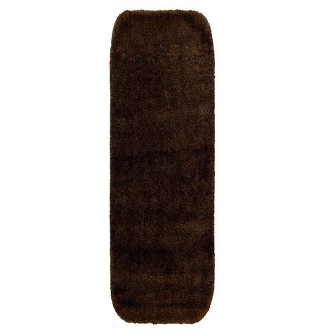 Bathroom Accent Rugs Garland Rug Traditional Chocolate 22 In X 60 In Washable Bathroom Accent Rug Dec 2260 14 The
