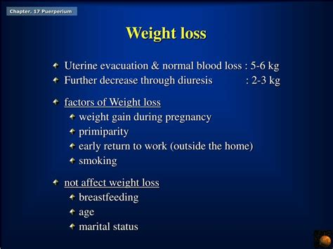 normal blood loss during c section ppt chapter 17 the puerperium powerpoint presentation