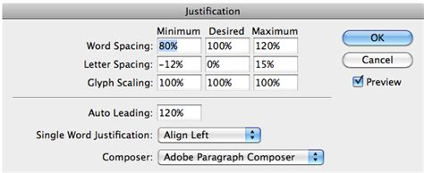 Indesign Justification Letter Spacing Text Justification Magazine Designing