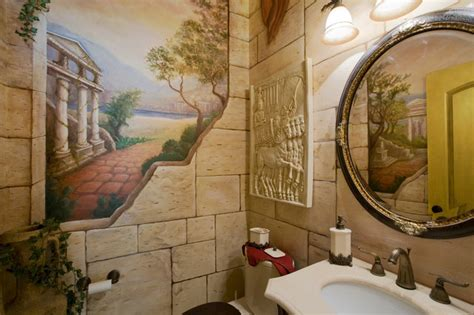 bathroom wall murals italian landscape murals and imagery mediterranean