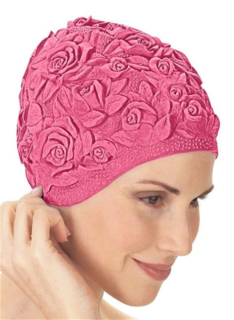 Flower Swim Cap floral bathing cap carolwrightgifts