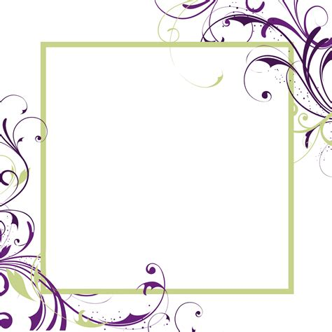 fancy card template idea fancy frame border transparent free bord on wedding