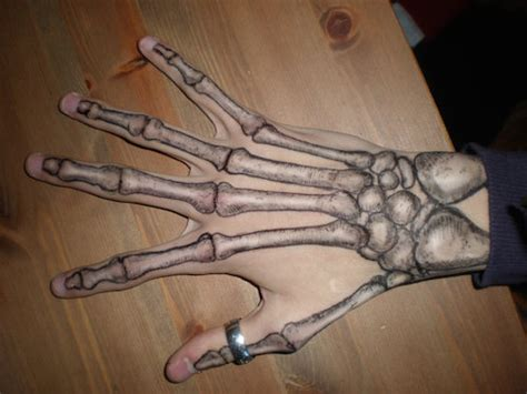 hand tattoo meme spooky bone tattoos that actually make people look see