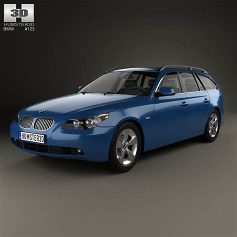 bmw model 2007 bmw 5 series touring e61 2007 3d model hum3d
