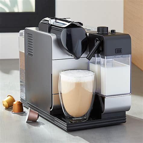 delonghi 174 silver nespresso 174 lattissima plus espresso maker crate and barrel
