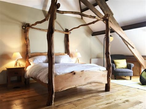 tree bed frame for sale rustic oak four poster tree bed