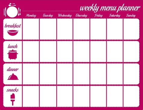 diet calendar template meal plan calendar template search personal