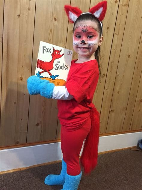 diy fox in socks costume 20 easy costume ideas for book week stay at home