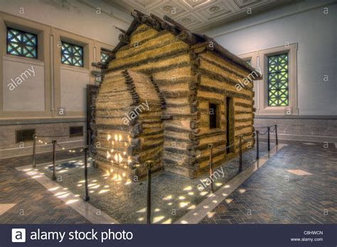 abraham lincoln cabin log cabin at the abraham lincoln birthplace national
