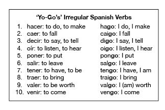 Verbs With Irregular Yo Forms Worksheet by 10 High Frequency Irregular Verbs I Call Them Quot Yo