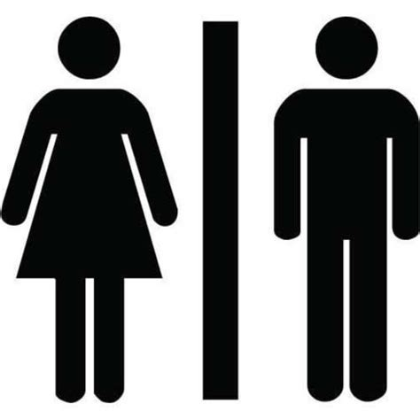Unisex Bathroom Sign by Unisex Bathroom Sign Sticker For Your Toilet