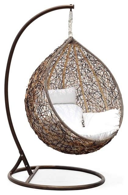 Patio Hammock Chair Trully Outdoor Wicker Swing Chair The Great Hammocks Contemporary Hammocks And Swing Chairs
