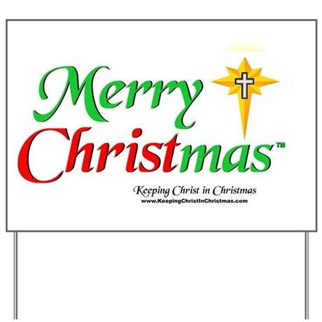 merry christmas yard sign by keepingchrist