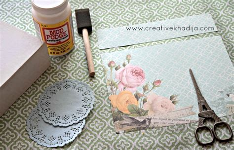Decoupage Craft Supplies - how to decoupage and design an ordinary box tip junkie