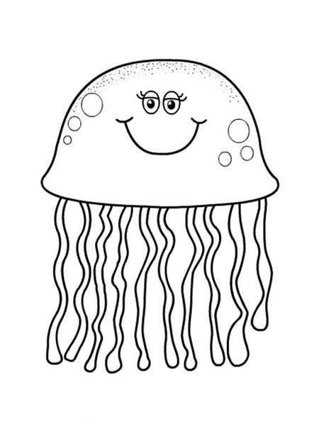 jellyfish coloring page pretty jellyfish coloring page print