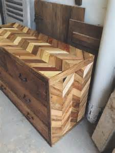 Chevron Bed Set Rustic Dresser Made From Pallets Pallet Furniture Diy