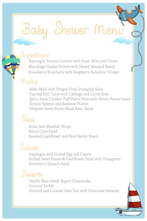 Baby Shower Menu by Baby Shower Food Ideas The Ny Family