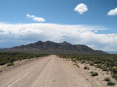 Nye County Records Photo Gap Mountain From Muleshoe Crossing Road