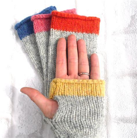 knitting gloves fingerless gloves knitting kit by my baboo