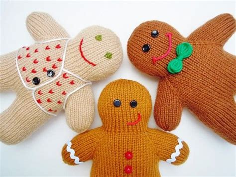 knitting pattern gingerbread man happy gingerbread men knitting tutorial pictures photos