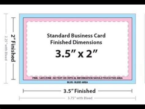Business Card Dimensions Photoshop
