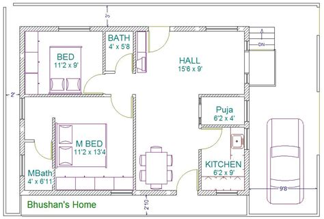 house building plan with vastu south facing house plans 30 x 60
