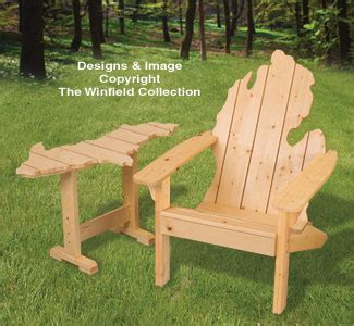 New Items   Adirondack MICHIGAN Chair & UP Table Plans