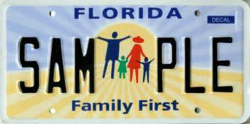 specialty license plate family
