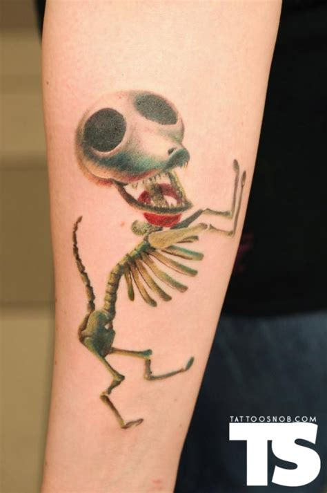 scraps from the corpse bride tattoo tim burton