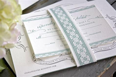 vintage inspired wedding stationery zayra ivan s vintage inspired gray celadon wedding invitations