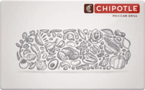 Chipotle Gift Card Deal - chipotle gift card discounts comparison chart
