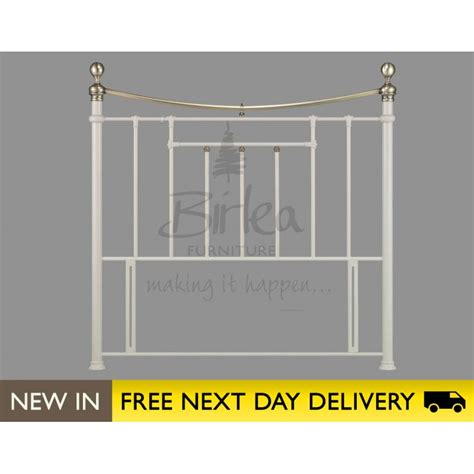 cream metal headboard king size bronte 5ft king size cream metal headboard sale birlea
