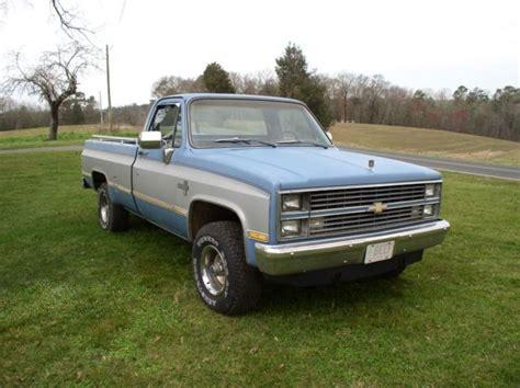 1984 chevrolet silverado 4 x 4 bed truck 4