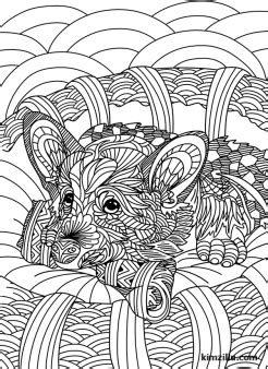 cute zentangle dog coloring page dog coloring page
