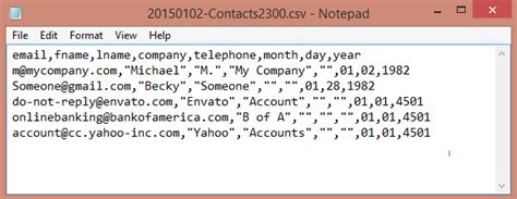 contacts csv format template filter and save contacts to a csv file