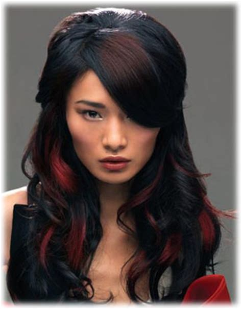 hairstyles red and black hair red and black hair hair pinterest highlights trends