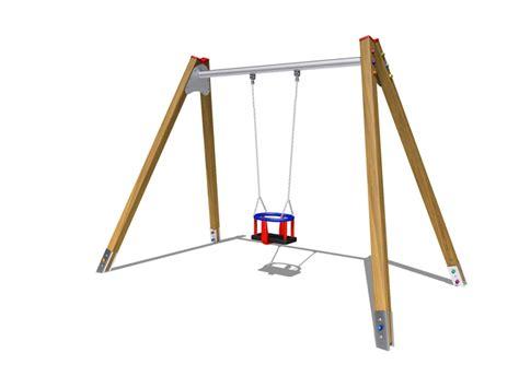 wooden single swing swing single wood