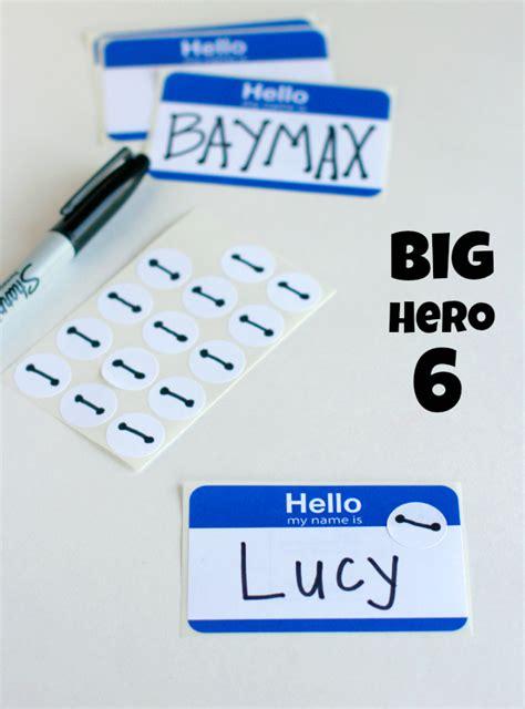 Name Tag Baymax Big 6 big 6 birthday ideas make and takes