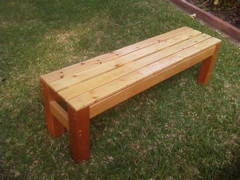 outdoor cedar bench woodwork build a wooden bench pdf plans
