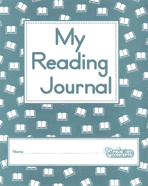printable reading log cover page my reading journal 057932 details rainbow resource