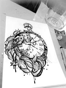 broken clock and roses tattoo designs photo 2 photo