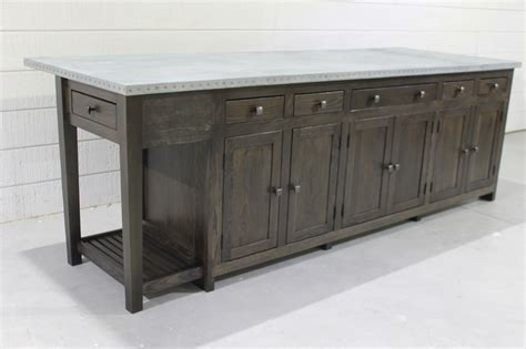 zinc kitchen island custom built to order 978 505 3222