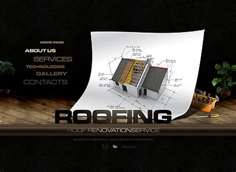 powerpoint themes roof roof repair flash website template best website templates