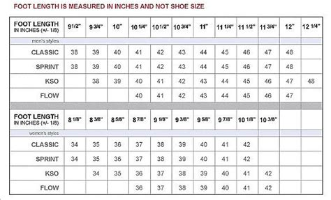 shoe size chart measure your feet how to measure your foot in vibram five fingers yun456