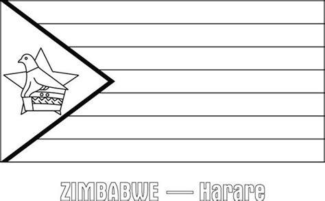 zimbabwe nation flag coloring page zimbabwe nation flag