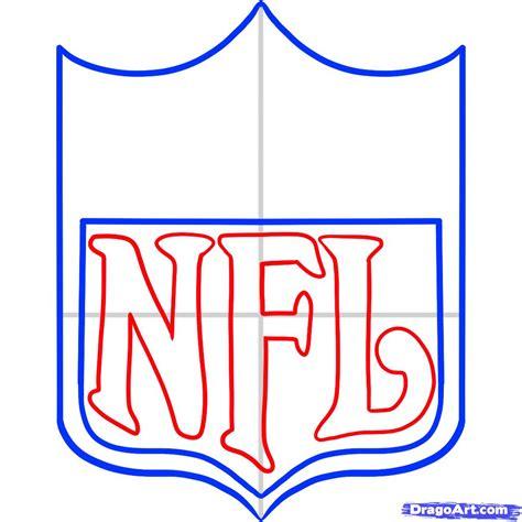 step by step how to draw nfl nfl logo step by step sports pop