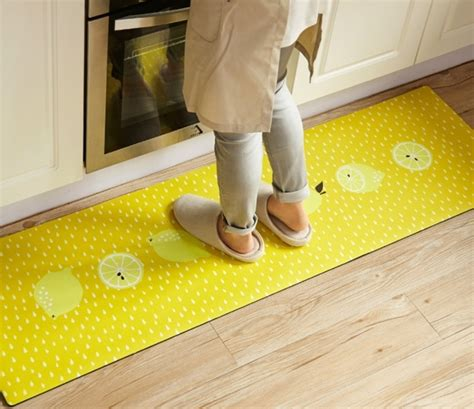Yellow Kitchen Rug Runner Washable Kitchen Rugs Non Skid 3d Donuts Yellow Lemon 2 Pieces Set Rubber Images 65 Rugs Design