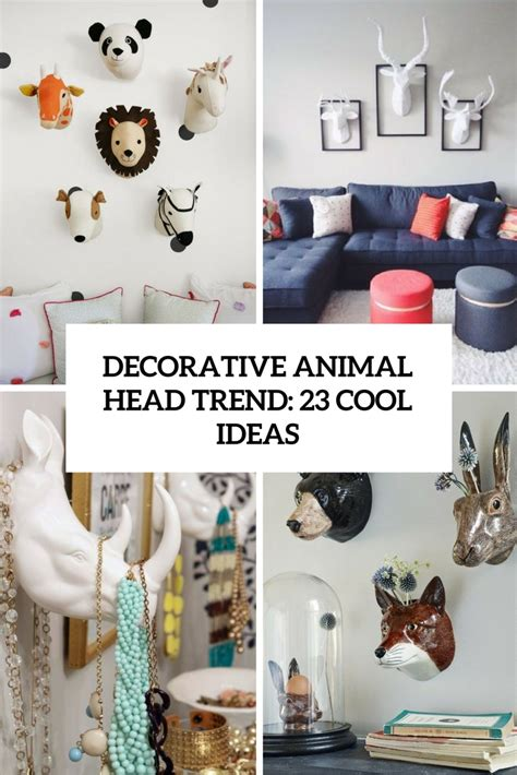 Decorative Animal Heads by Decorative Safari Animal Heads Decor Accents